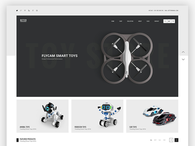 Better Homepage Toys concept creative minimalist simple trend wordpress brand shop logo