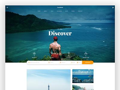 Travel concept creative simple wordpress minimalist trend tour travel