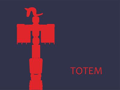 Totem Illustration vector art totems totem pole tribal vector illustration vectorart vector graphic design illustrator illustration