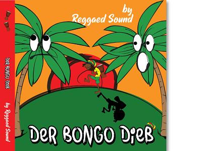 Reggae CD Cover - Der Bongo Dieb vector illustration vectorart music jamaica rasta reggae music album cover design cd packaging cd design cd cover illustration design vector illustrator graphic design