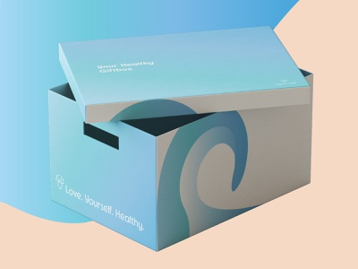 Pacific Calm Udemy Project - Healthy Membership Giftbox subscription box package design box design gift box stay healthy fitness logo fitness spa logo spa gym logo gym lindsay marsh udemy company logo logo company branding logo design corporate design branding graphic design