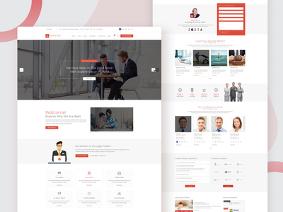 Justice Time - Law Firm and Lawyer PSD Template court lawyer psd template psd website design counsel attorney law firm justice law advisor legal ui