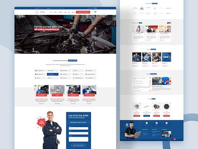 4 Wheels - PSD Template maintenance business spare parts repair engine car automotive wheels website design theme design psd template psd ui
