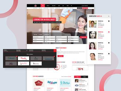 Hire Maids Online hiring household work maid service maid website design business design ui