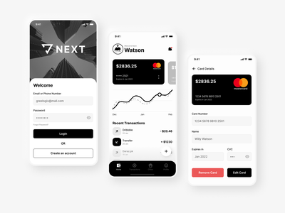 Banking App figma fintech finance bank creditcard login cards mobile app business design ui