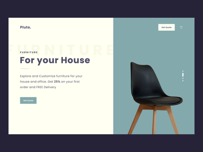 Furniture Landing Page relax sofa chair quote decoration delivery landing page furniture figma business design ui