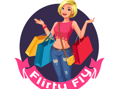 Custom Logo Design - Flirty Fly fashion fashion logo design shop logo clothing logo shopping vector logo design animation logodesign illustration logo design branding