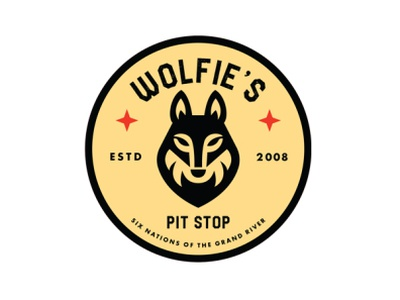 Pit Stop Logo Design sale discount christmas marketing gas station business vector illustration branding logo design wolf logo design