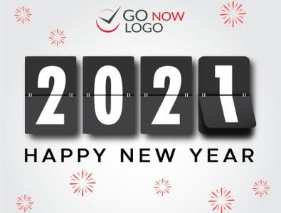 Happy New Year animation branding design app design web design logo design