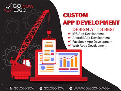 Custom App Development   Avail 40% Off brand design android app design app development app development company custom app custom android ios ios app design application ui ux branding app illustration ui ux