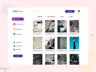 TechSource - Resource website landingpagedesign learning resources adobexd homepage design 100daysofui ui ux figma