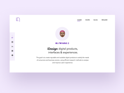 My Portfolio Design | Hero Section website design uidesign homepage ux landingpage hero section portfolio template portfolio website portfolio design landingpagedesign 100daysofui design ui figma