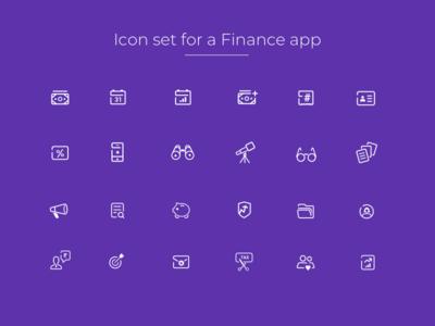 Icon Set investment cash money fintech minimalism minimal lineicons iconography icons finance