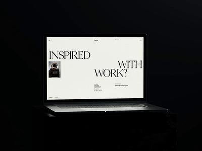 Von Heilig ui interactive motion graphics branding typography header website animation