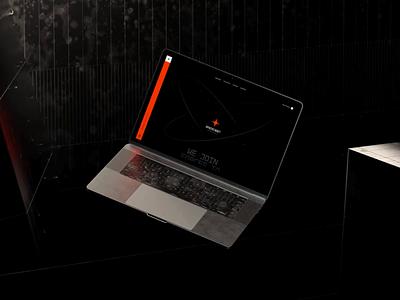 Spacecadet Ventures Website motion black orange ventures spacecadet mockup 3d animation website