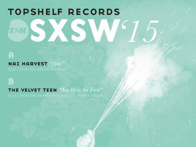 "7"" cover vinyl sxsw tsrsxsw gotham bodoni type basenine topshelf records emigre licko"