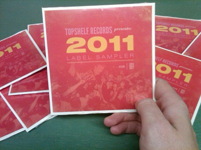 and they're in! topshelf records cd print helvetica bodoni league gothic type