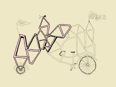 #FOAN 2 foan fuck off all nerds topshelf records mitch dubey bike illustration print wacom