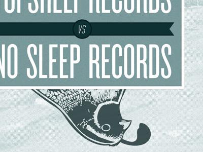 vs. no sleep records topshelf records album cover bird vs knockout united oblique type print