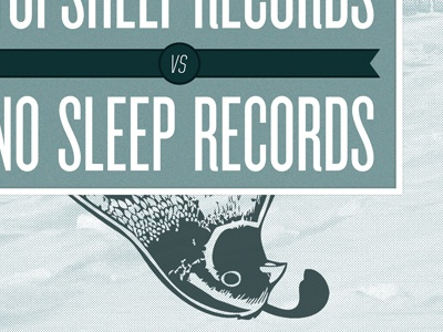 vs. no sleep records topshelf records album cover bird vs knockout united oblique type print