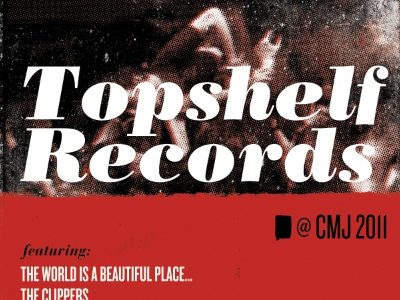 Topshelf Records @ CMJ cmj topshelf records bodoni knockout type print