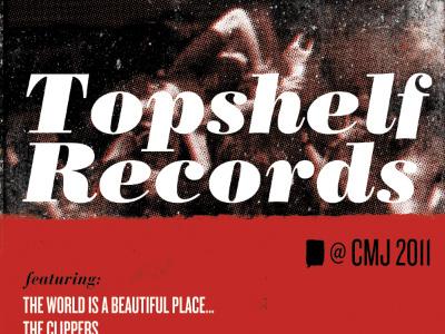 Topshelf Records @ CMJ cmj topshelf records bodoni knockout type print