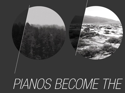 pbtt pianos become the teeth pbtt type print helvetica black and white