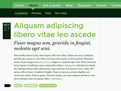 Greenvans blog gotham miller type ui blog nav web greenvans symbly