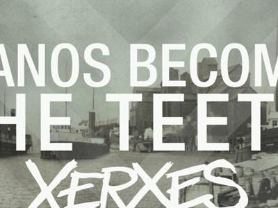Pianos Become the Teeth / Xerxes dates pianos become the teeth topshelf records poster xerxes helvetica neue buffalo erie canal