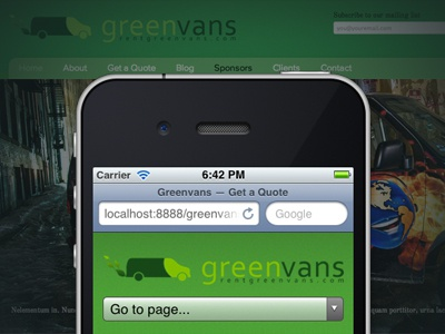 gettin' there. greenvans rwd mobile first iphone web
