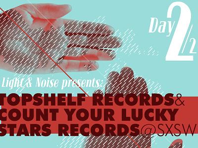 Topshelf Records @ SXSW topshelf topshelf records sxsw gotham bloc pantone 324 pantone 180 hands hand poster print 2 michigan