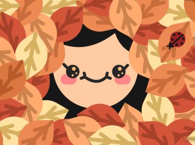 Autumn Leaves icon art abstract minimal autumn vector minimalism illustrator illustration flat graphic design design