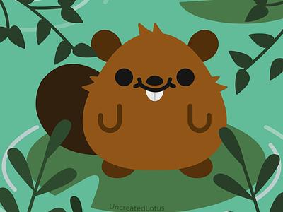 Beaver beaver abstract icon vector minimalism minimal illustrator flat nature illustration graphic design design