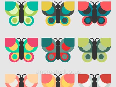 Butterflies abstract icon vector minimalism minimal illustrator illustration flat graphic design design
