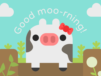 Good Moo-rning abstract icon vector minimalism minimal illustrator illustration flat graphic design design