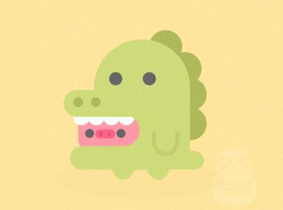 Dino cute piggy onesie dino minimal vector illustration flat illustrator graphic design design