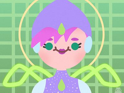 Winx Club - Tecna minimal vector illustration flat illustrator graphic design design fairy winx club