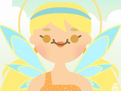 Winx Club - Stella minimal vector illustration flat illustrator graphic design design fairy winx club