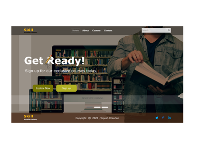 Landing Page web design webdesign