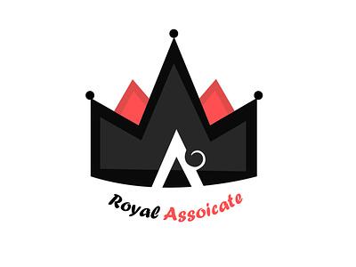Royal Assoicate vector typography illustration logo design