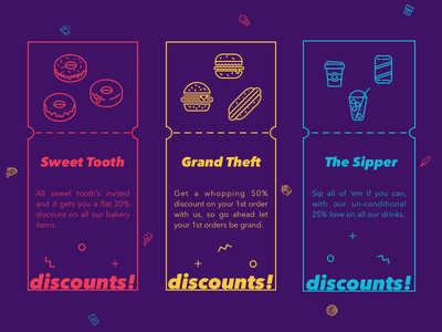 Discounts - Free Sketch File branding daily typography card sketch file free android iphone ios app discount ux ui