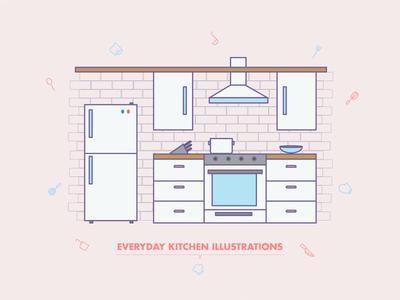 Everyday Kitchen Illustrations
