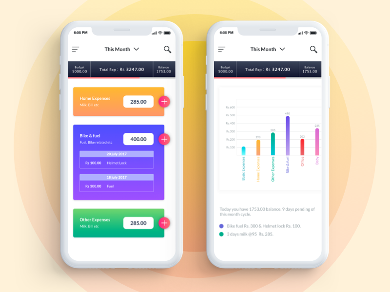 expense tracker app by ashish chauhan dribbble dribbble
