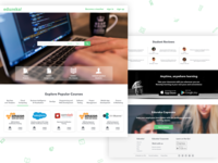 Online Education Website Landing Page
