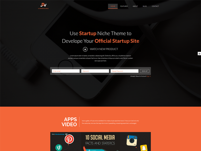 My design in themeforest one page