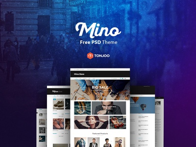Free PSD Mino wordpress blog web