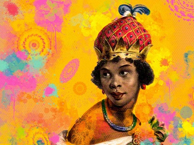 Rainha Nzinga ilustration scketchbook autodesk scketch poster design poster