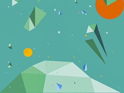 Órbita/Orbit poster design lowpoly vectornator vectorart poster
