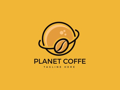 Logo Planet Coffe branding logo design