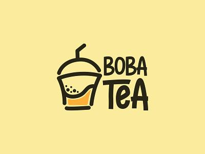 BobaTea branding logo design